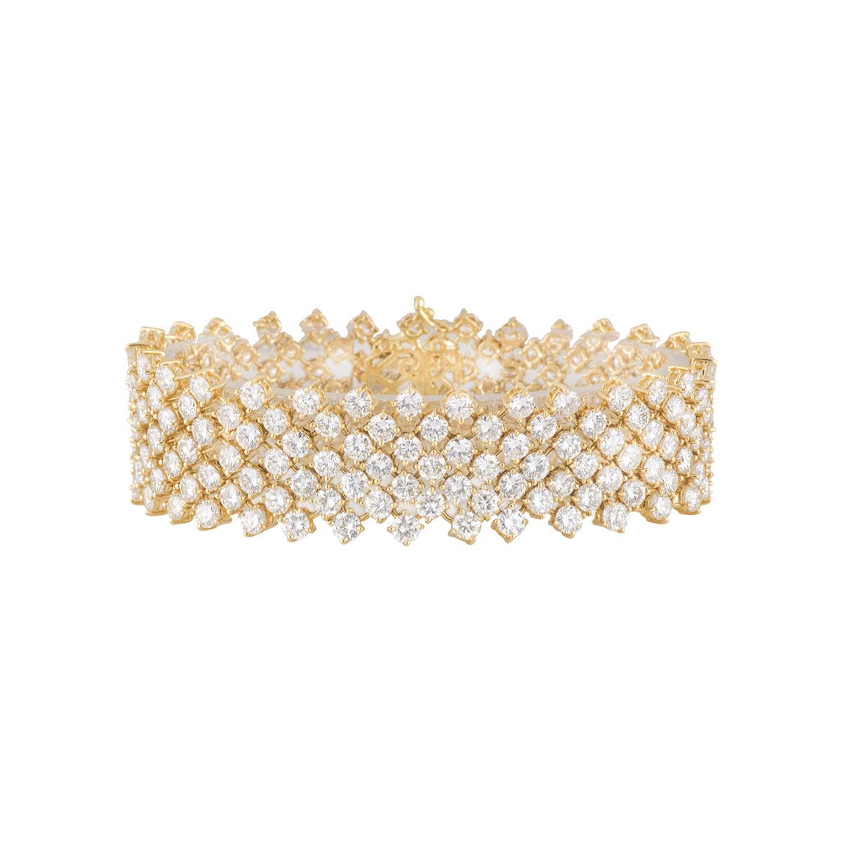 Yellow Gold Diamond Bracelet 26.52ct G/VS